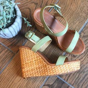 kate spade / Dancer Mint Green Wedge Sandals